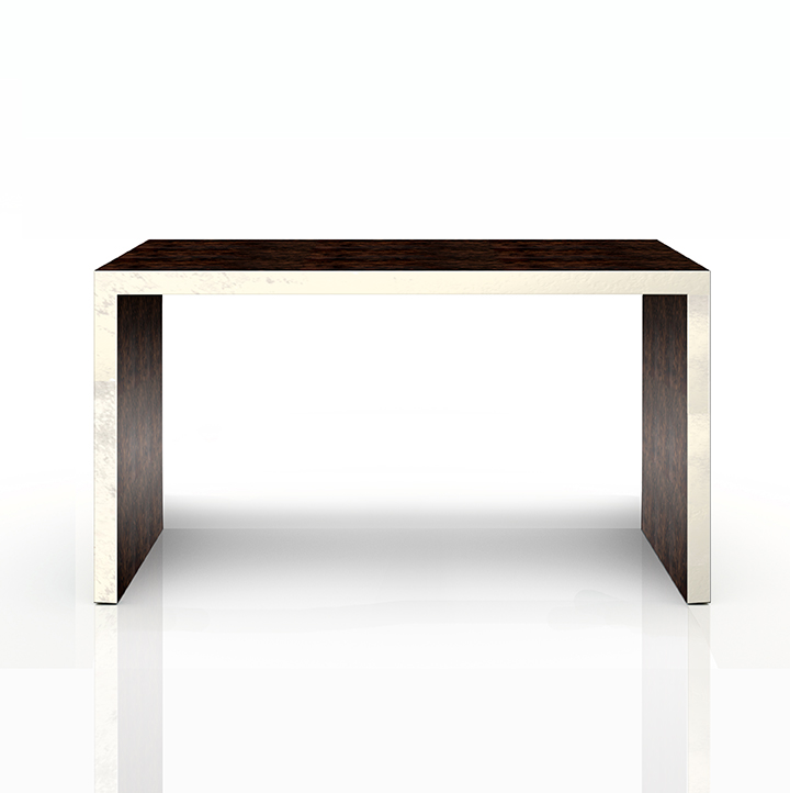CONSOLE TABLE IN TUCKER WITH SILVER