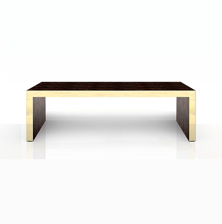 Cocktail Table in Tucker with gold leaf