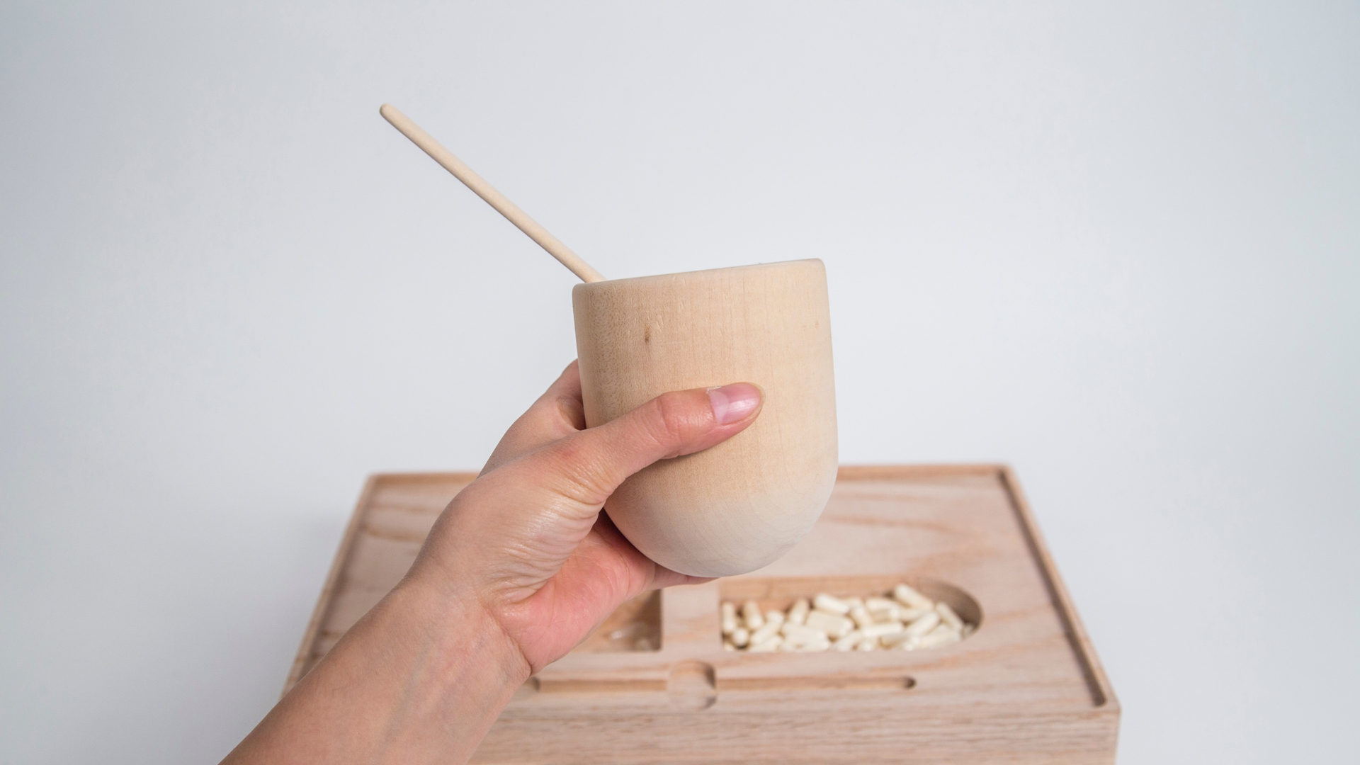 The products shown in this image are not real. They are speculative designs created as part of an academic Masters thesis project. The work is a prototype only, constructed to investigate the potential role of design in the context of end-of-life issues.