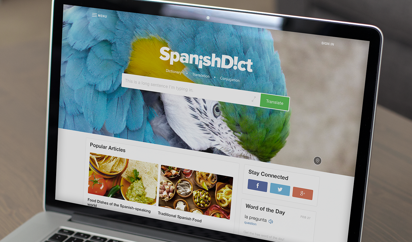 How We   Redesigned SpanishDict.com    Read more