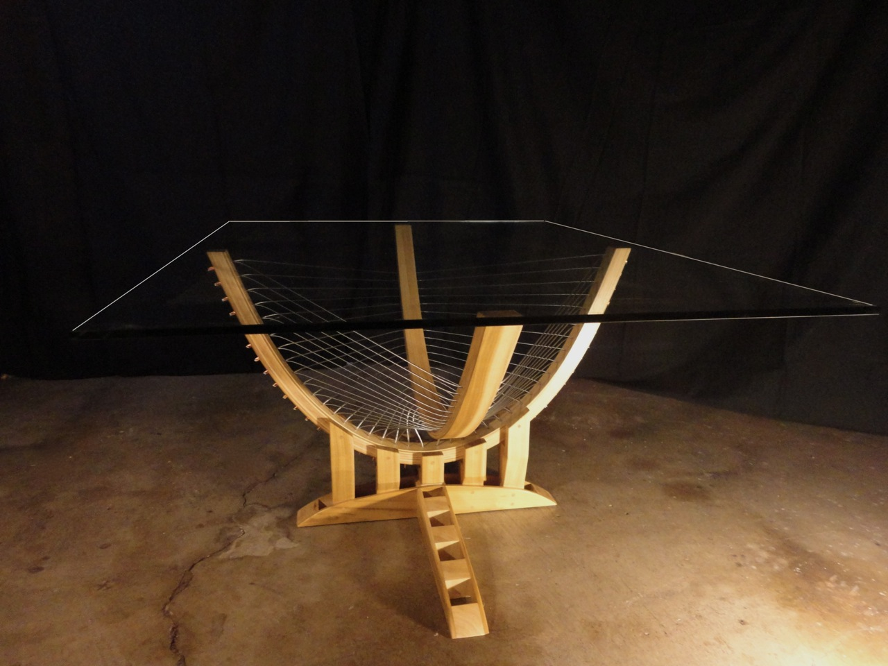 Suspended Coffee Table by Robby Cuthbert