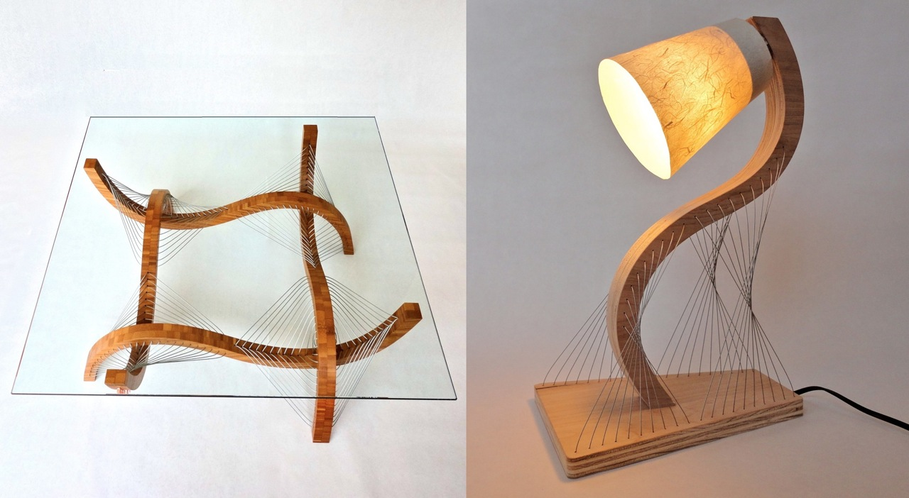 Contour Coffee Table and Lamp