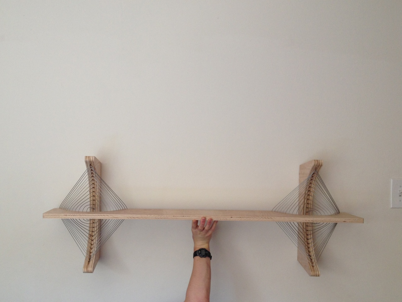 Floating shelf prototype