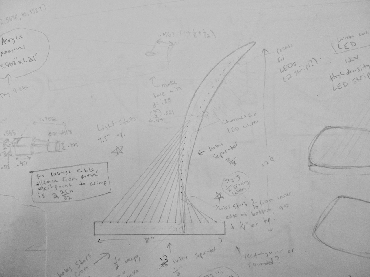 Sketch for Signature Lamp