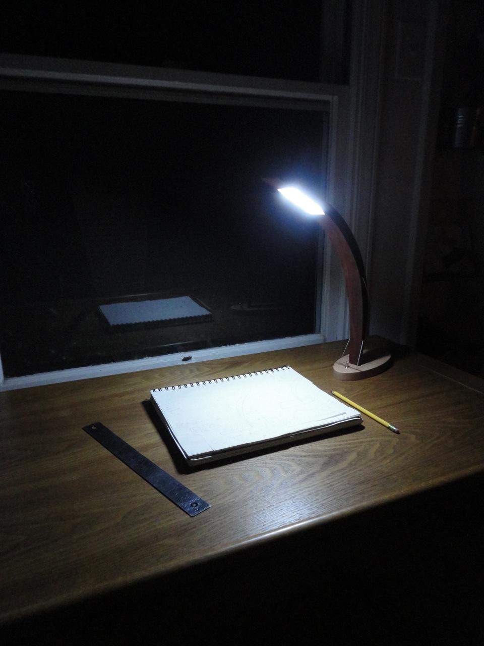 Brightness test... The lamp provides a lot of light!