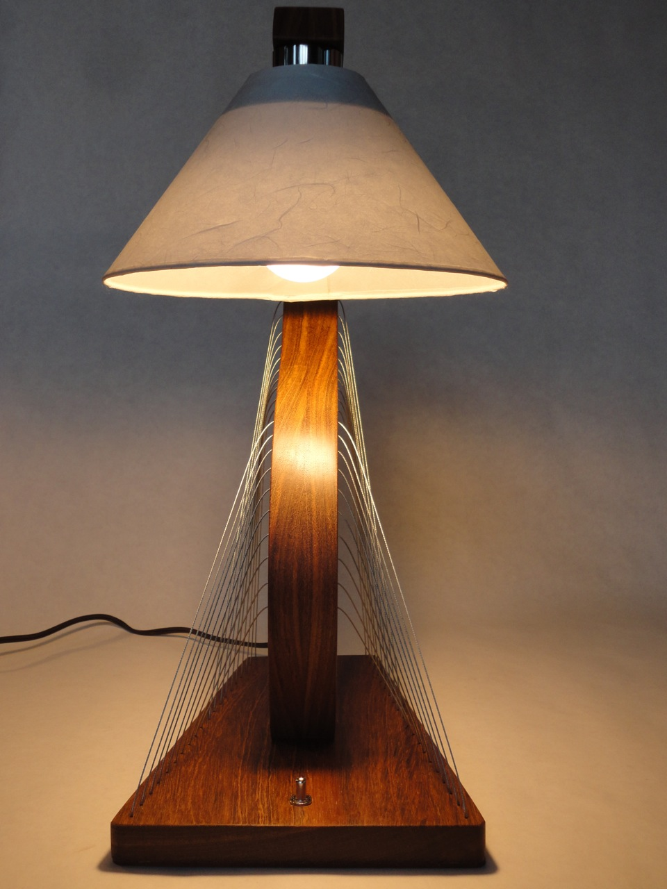 Brazilian Cherry Bedside Lamp by Robby Cuthbert