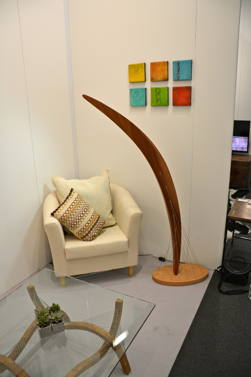 The new Arc Floor Lamp at the show