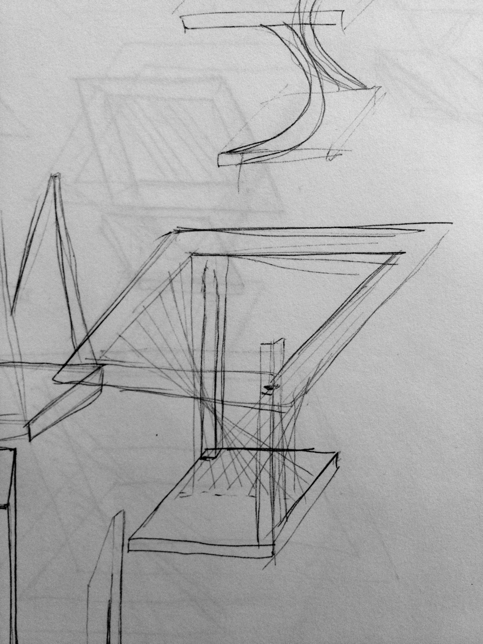 The initial brainstorm sketch for what would eventually become the Balance End Table