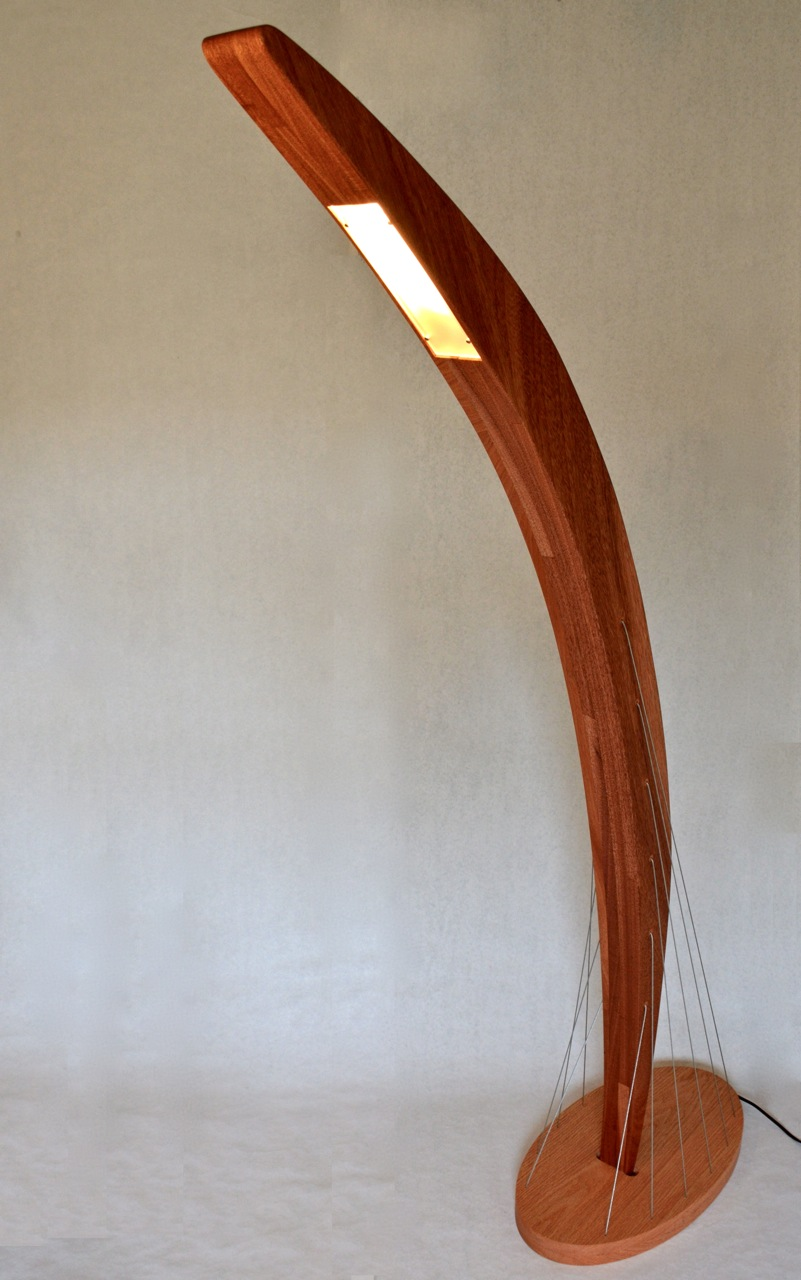 Arc Floor Lamp Front View by Robby Cuthbert