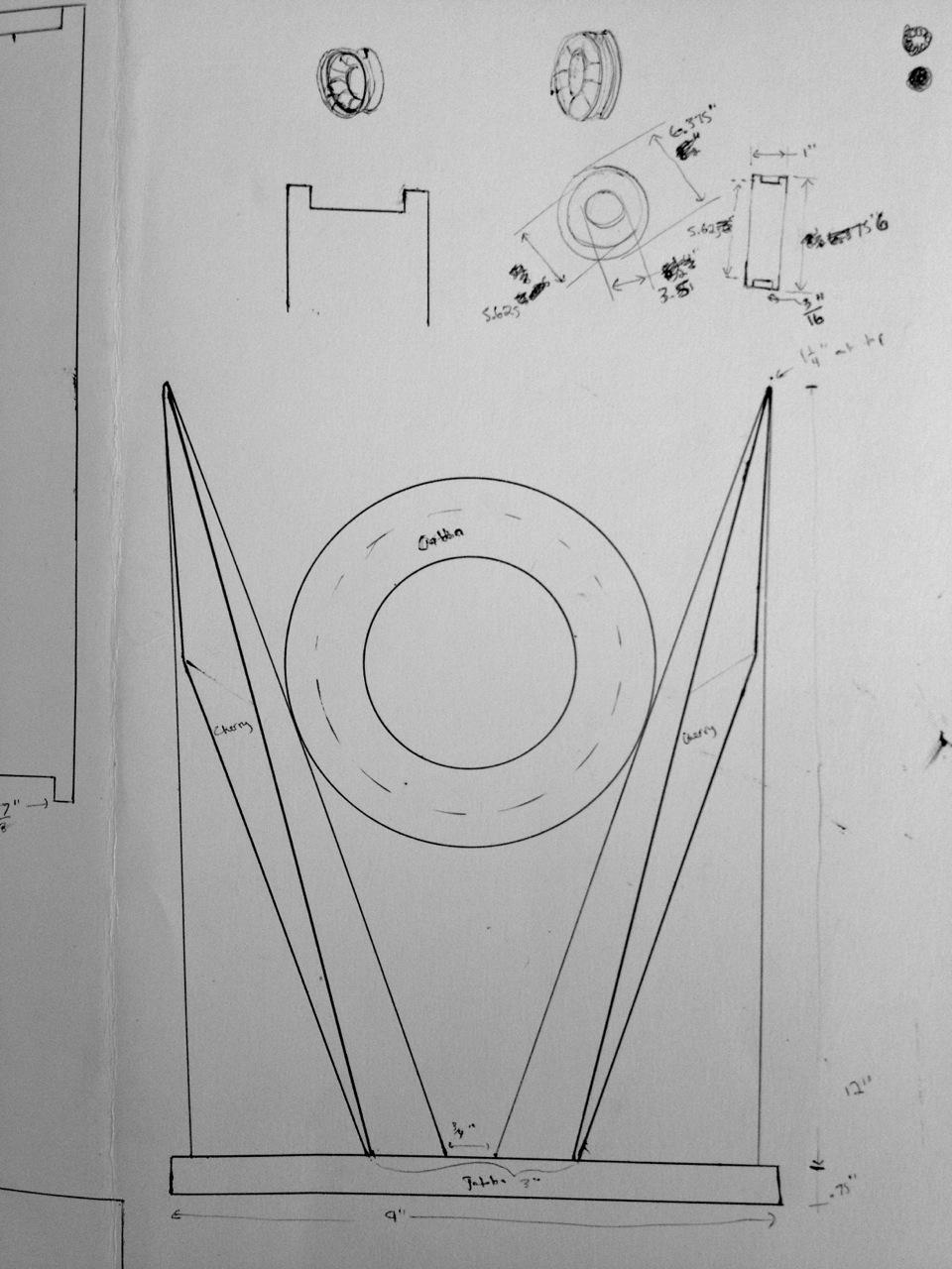 Original sketch for Cradled Ring