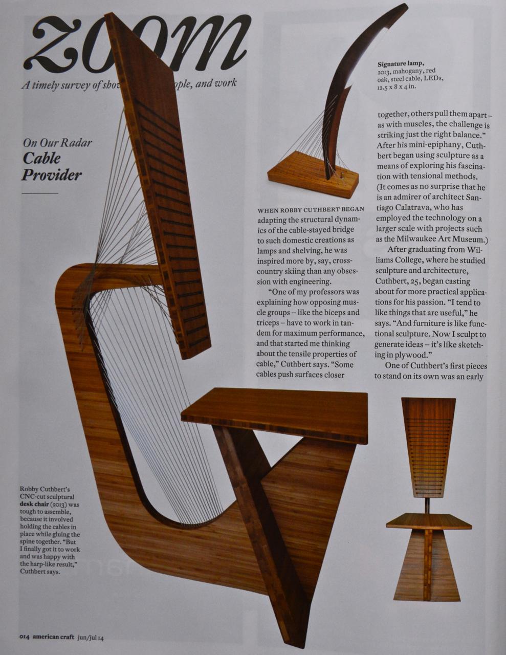Robby Cuthbert Design American Craft