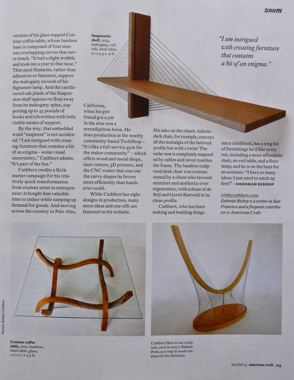 Robby Cuthbert Design American Craft 2