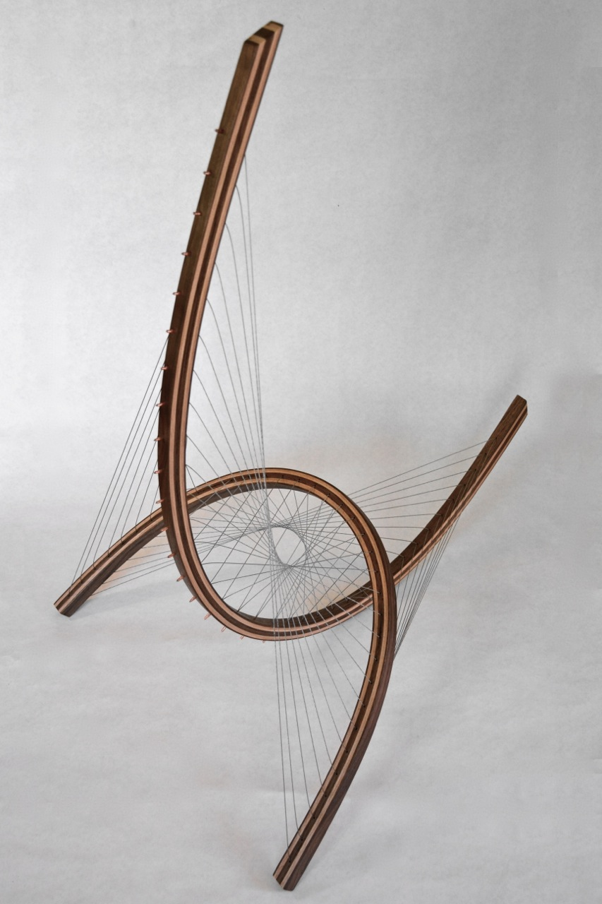 Abstract Sail Sculpture by Robby Cuthbert
