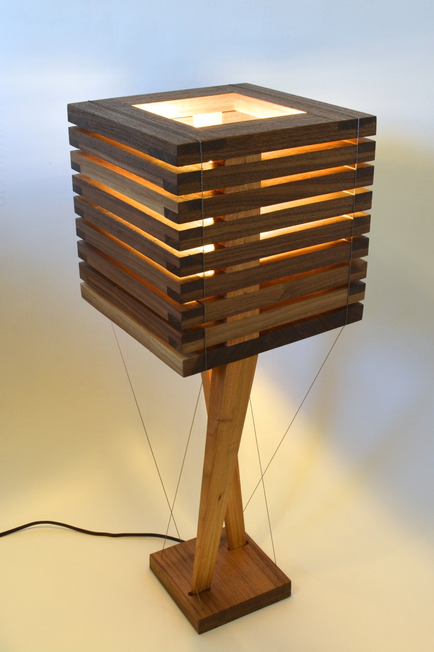Robby Cuthbert Design Modern walnut table lamp