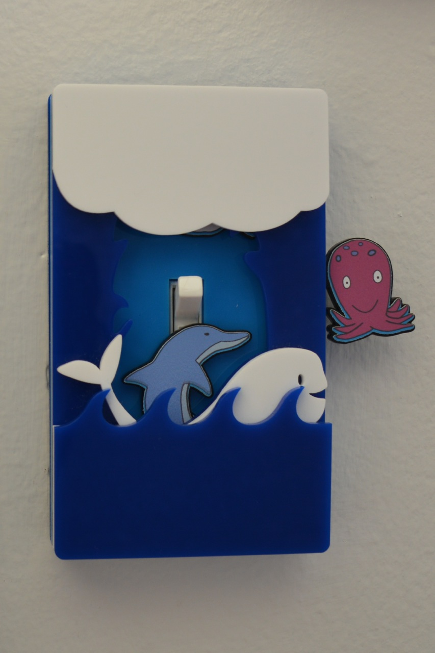 Ocean light switch cover by Robby Cuthbert single switch