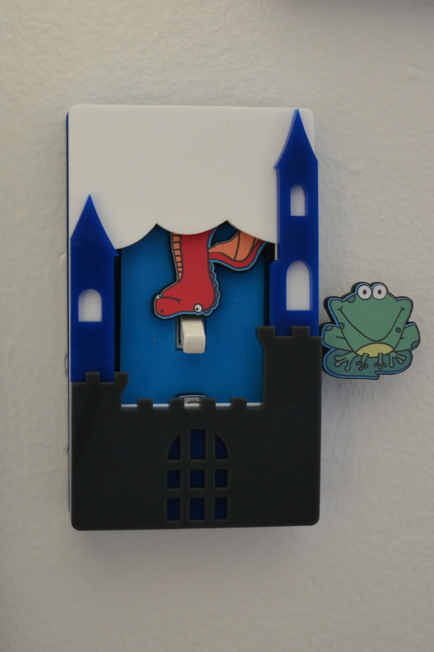 Castle light switch cover by Robby Cuthbert single switch
