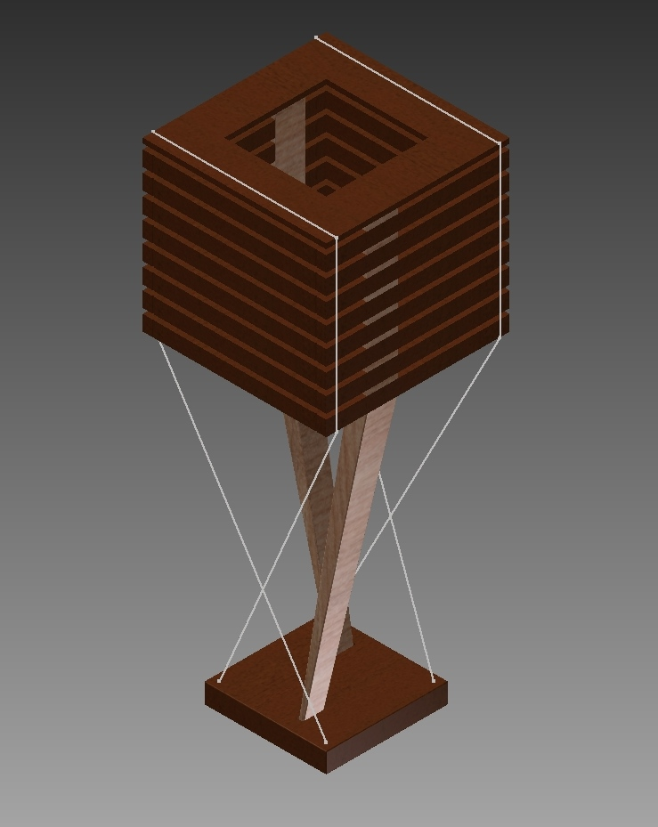 CAD Drawing for Slat Lamp