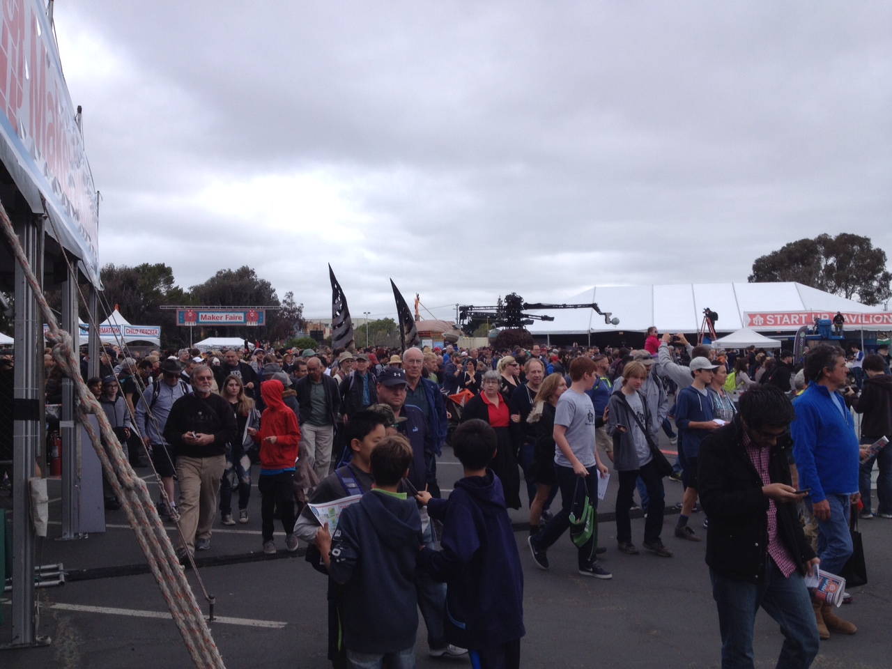 The crowds were a little intimidating at first. Estimates put attendance around 150,000 for the weekend.
