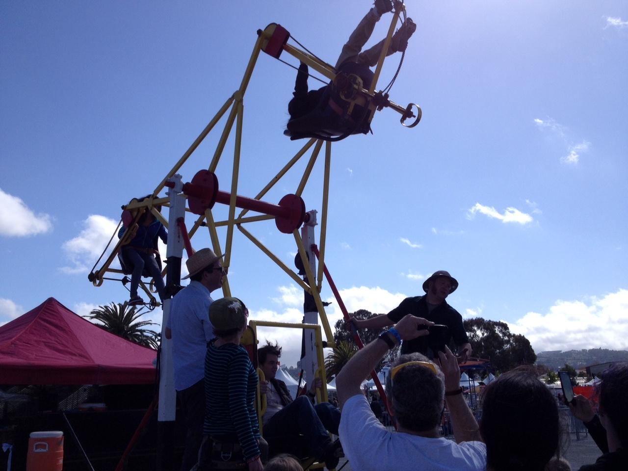 Pedal powered ferris wheel!