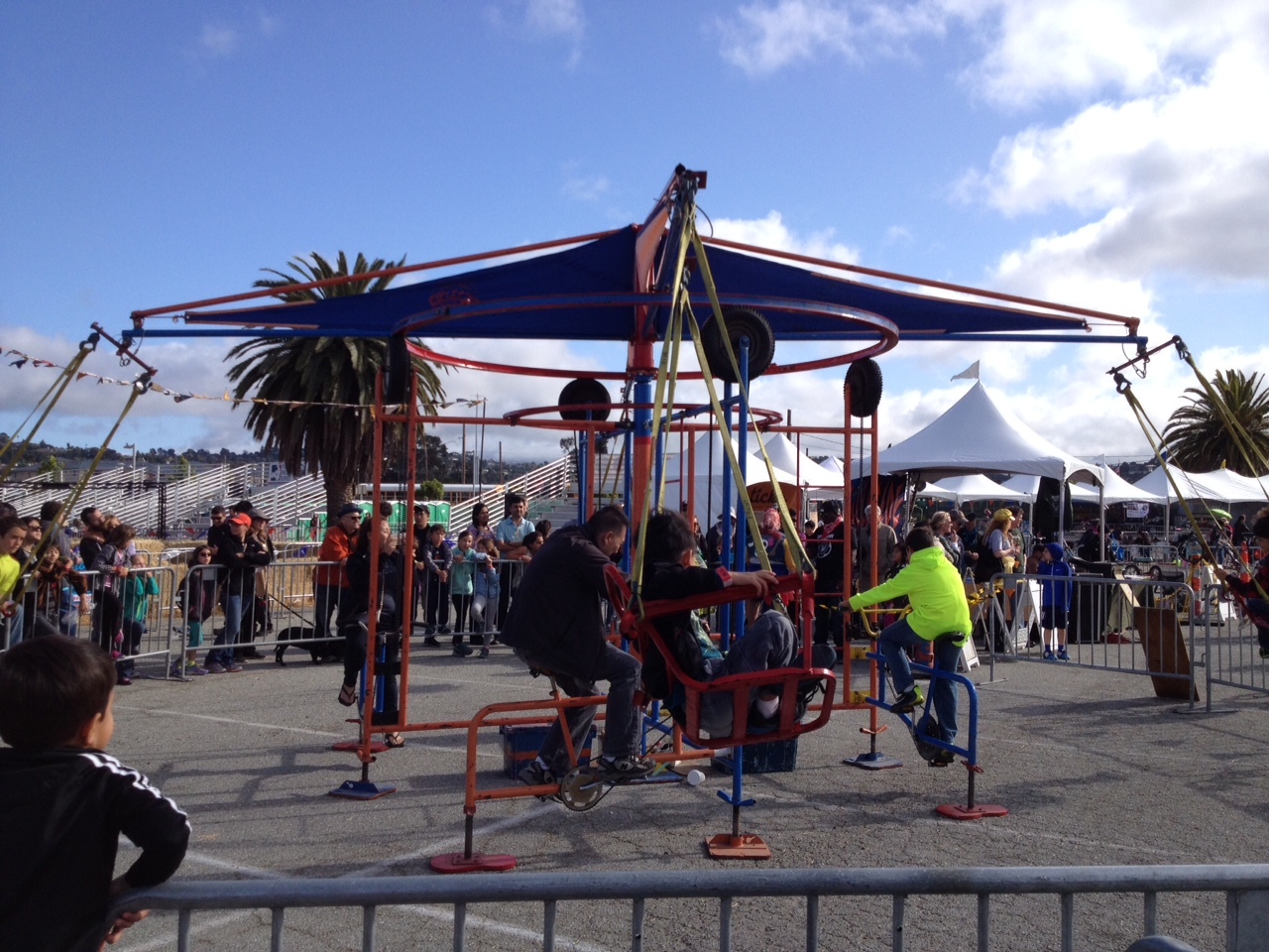 Pedal-powered swings... These things got going pretty fast!