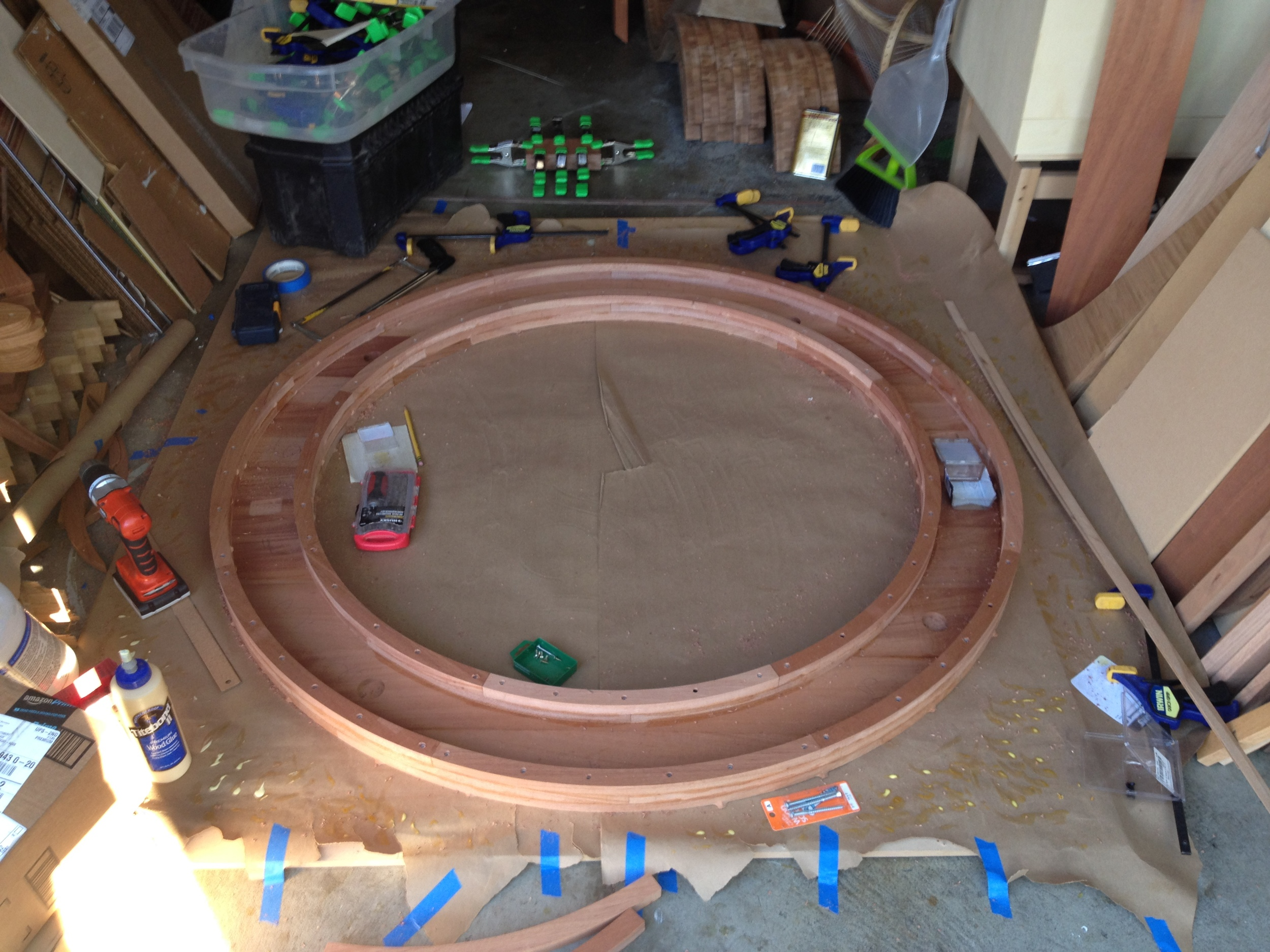 The top three layers of the ring have been assembled, just one more to go. But first...