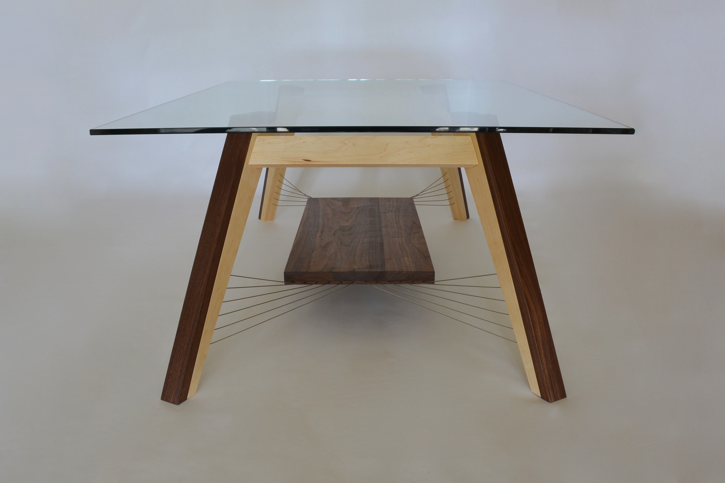 X-Weave Coffee Table side view with shelf