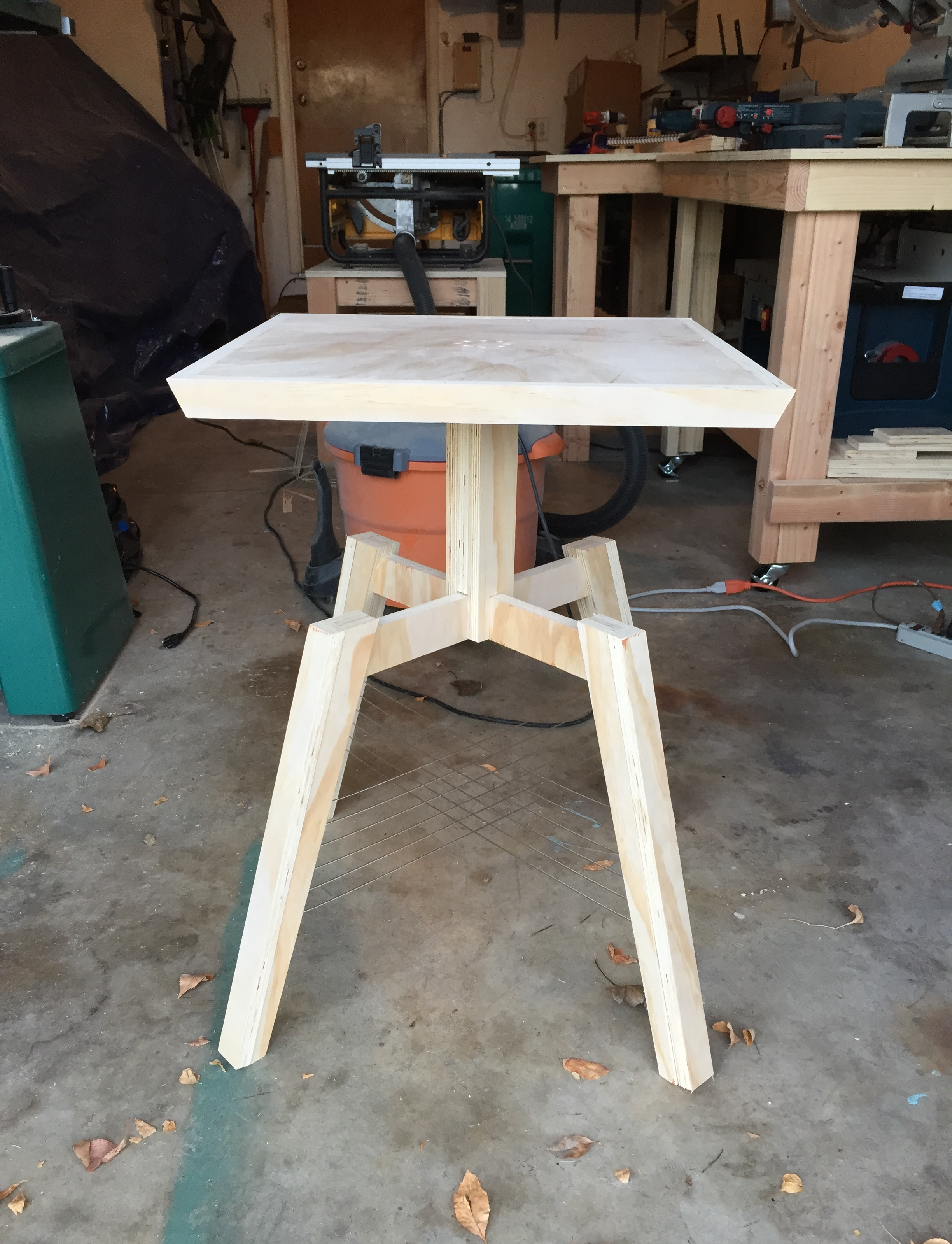 The first prototype for a new end table... It didn't turn out so well!