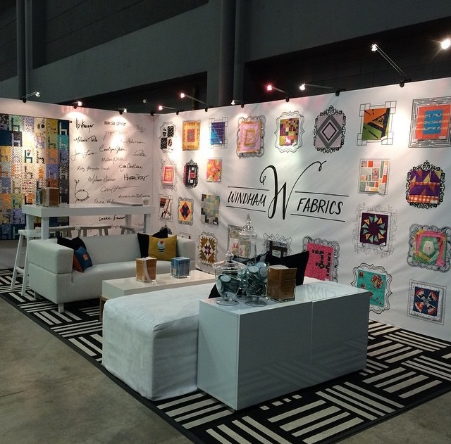 The fabulous booth!  love the way the doodle frame wall turned out!! Photo courtesy of @windhamfabrics on Instagram.