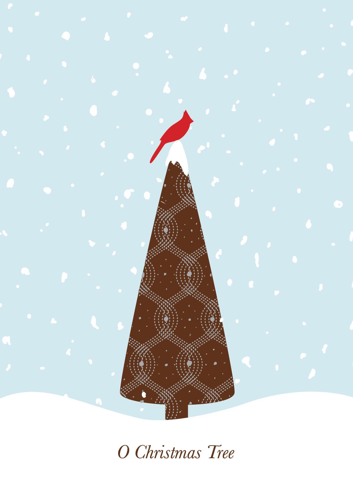 Cardinal Holiday Card for Masterpiece Studios