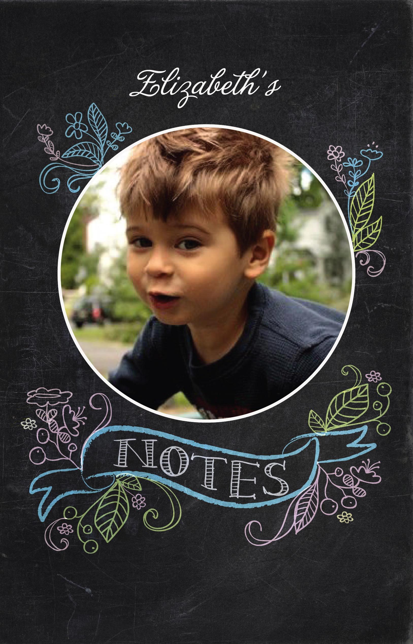 Chalkboard Notebook design for Tinyprints