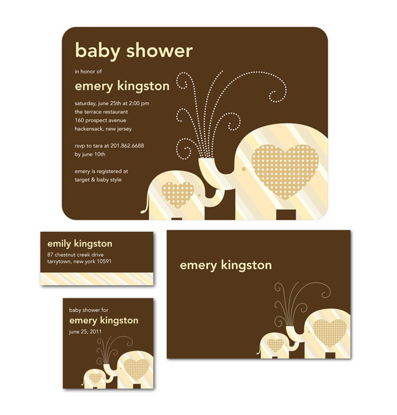 Elephant Love Baby Shower Invite for Tinyprints