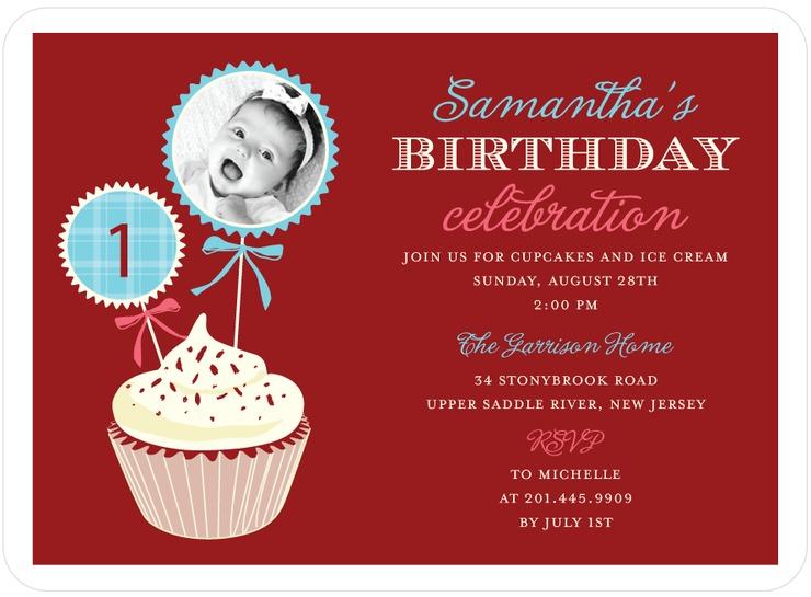 Red Velvet Birthday Invite for Tinyprints