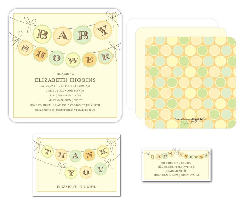 Baby Shower Banner Invite for Tinyprints