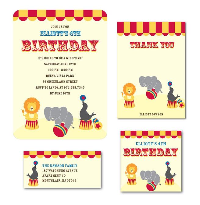 Circus Kids Birthday Invite for Tinyprints