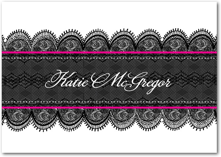 Lace Personalized Notecards for Wedding Paper Divas