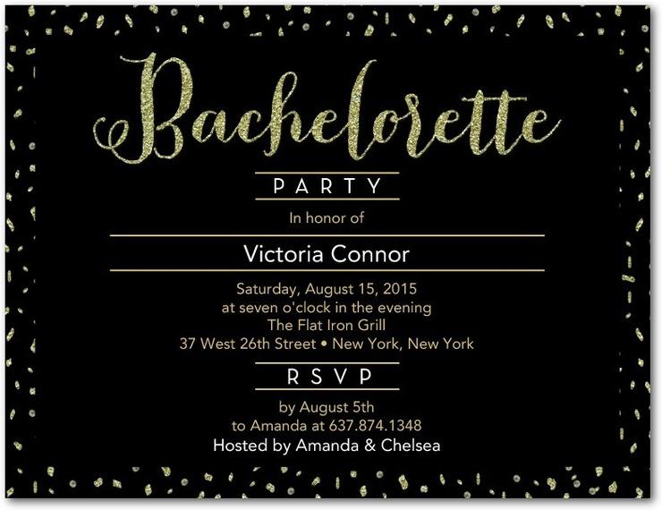 Bachelorette Invite for Wedding Paper Divas