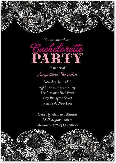 Bridal Lace Bachelorette Invite for Wedding Paper Divas