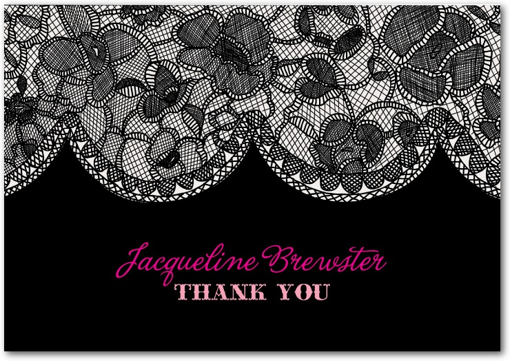 Bridal Lace Thank you Card for Wedding Paper Divas
