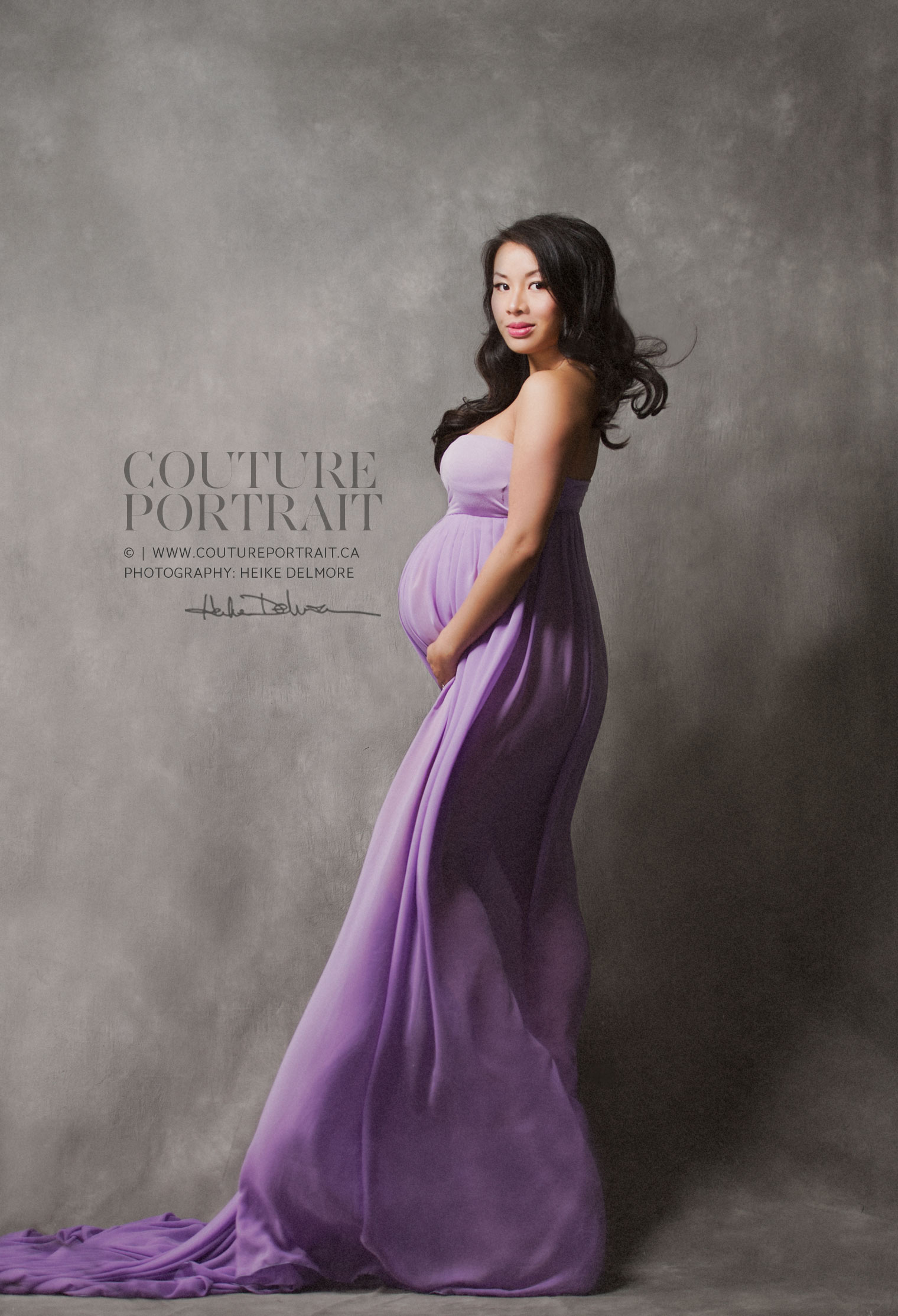Couture Maternity Photographer Heike Delmore