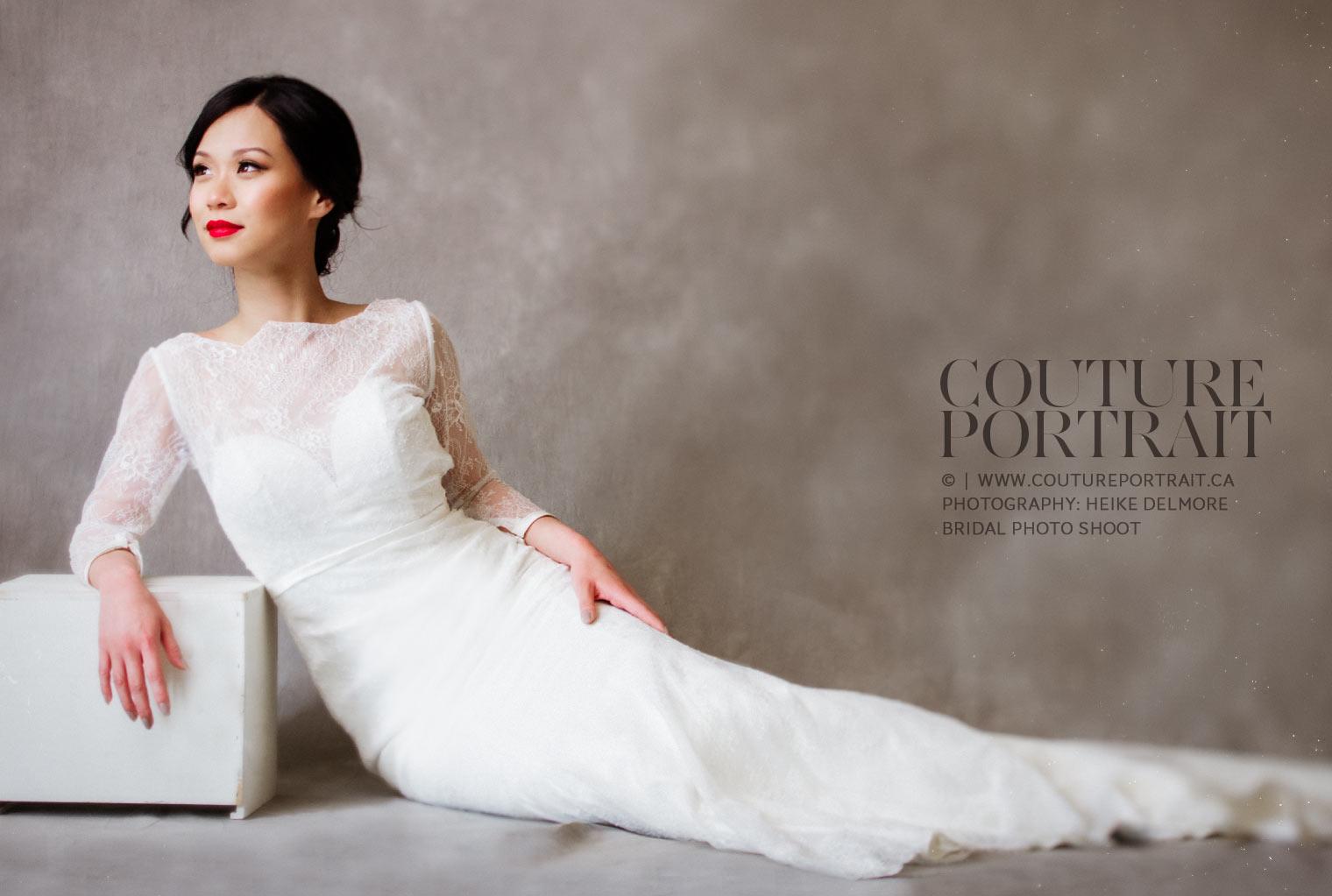 Bridal session couture portrait Windsor Ontario