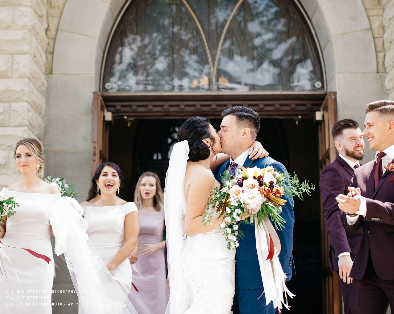 Windsor Wedding Photography First Kiss