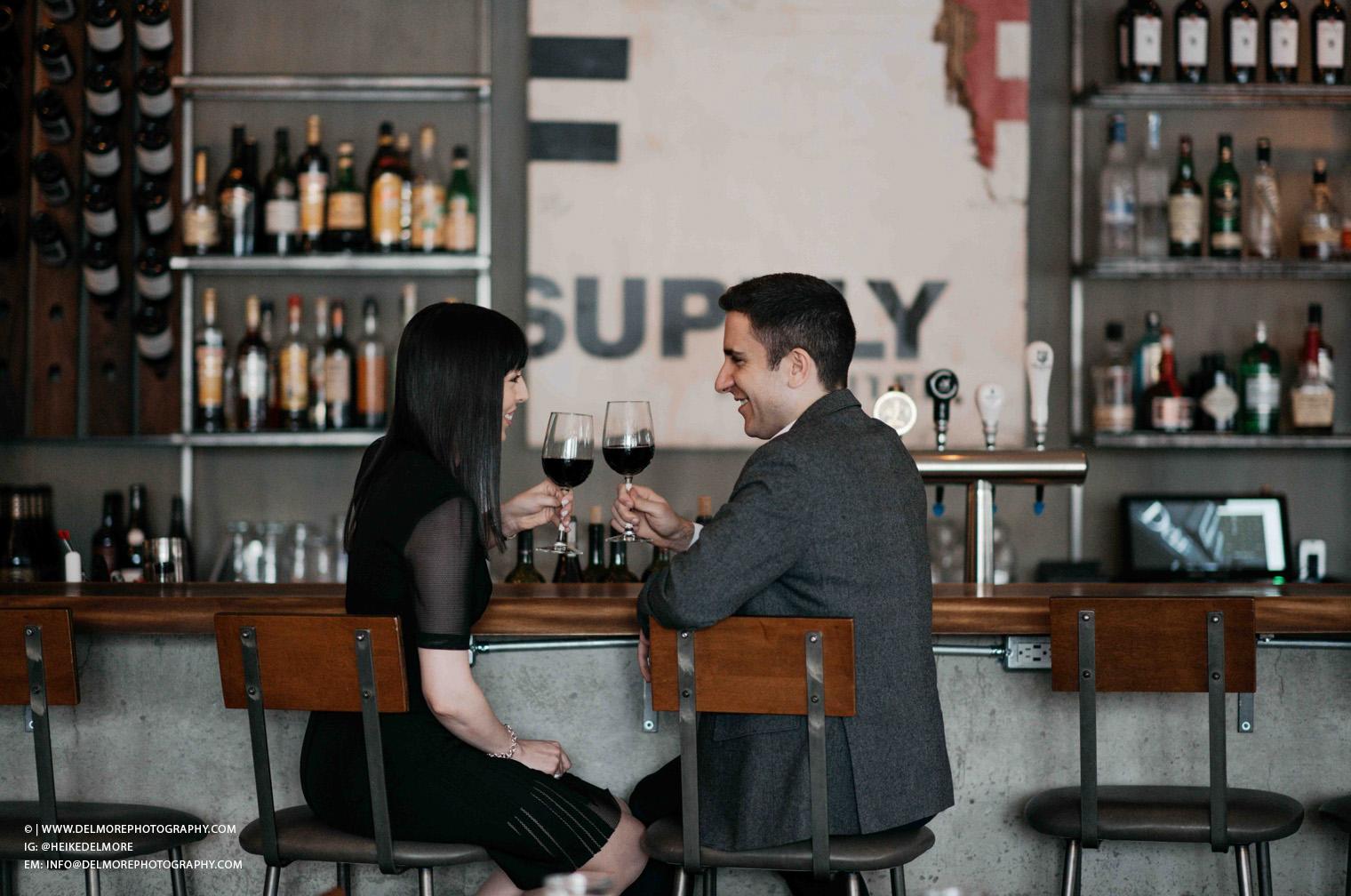 Top Windsor Engagement Photographers Wine Bar