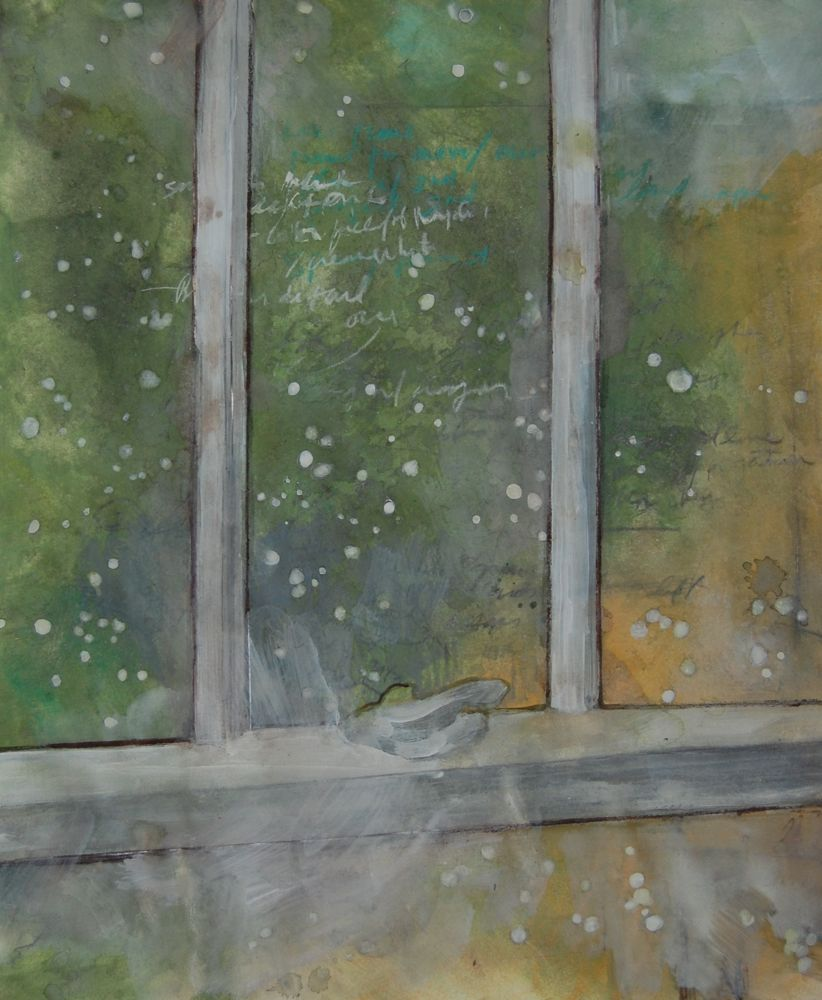 Courtyard , Mixed media on paper