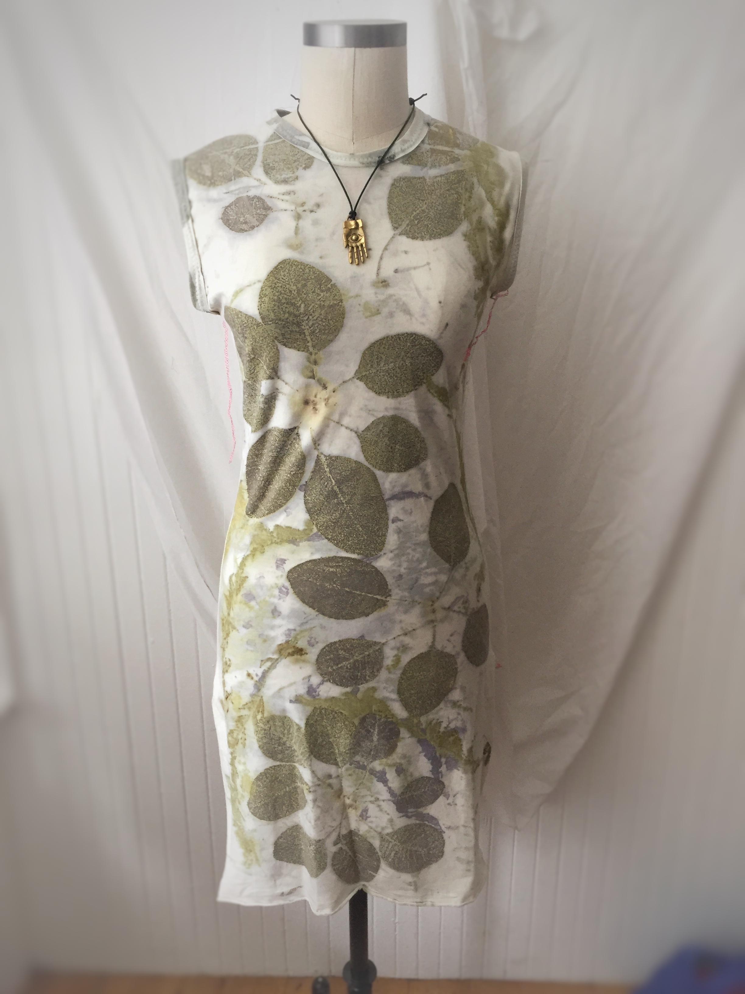 eco-printed tunic
