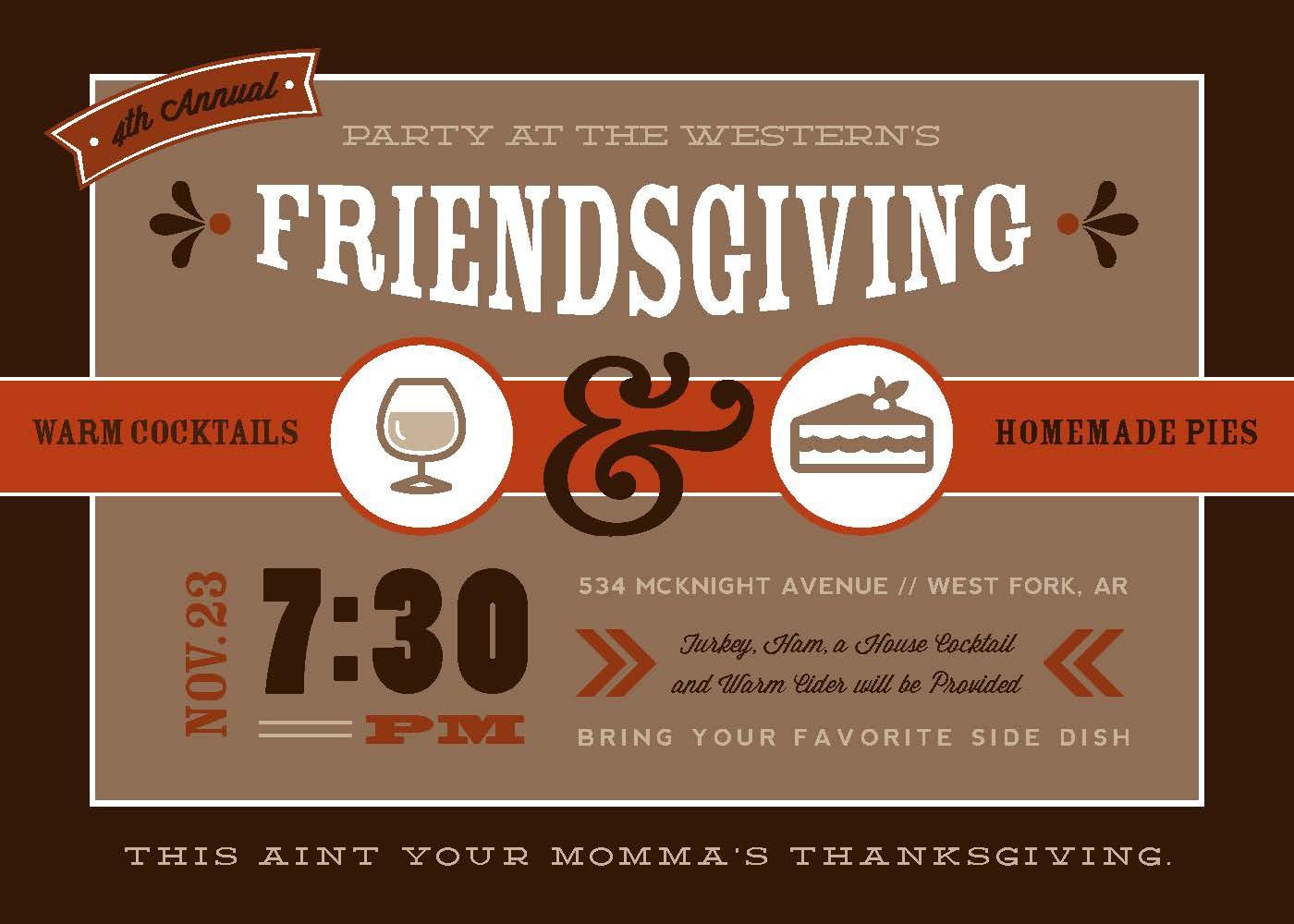 Friendsgiving Invitation - Rook Design Co.