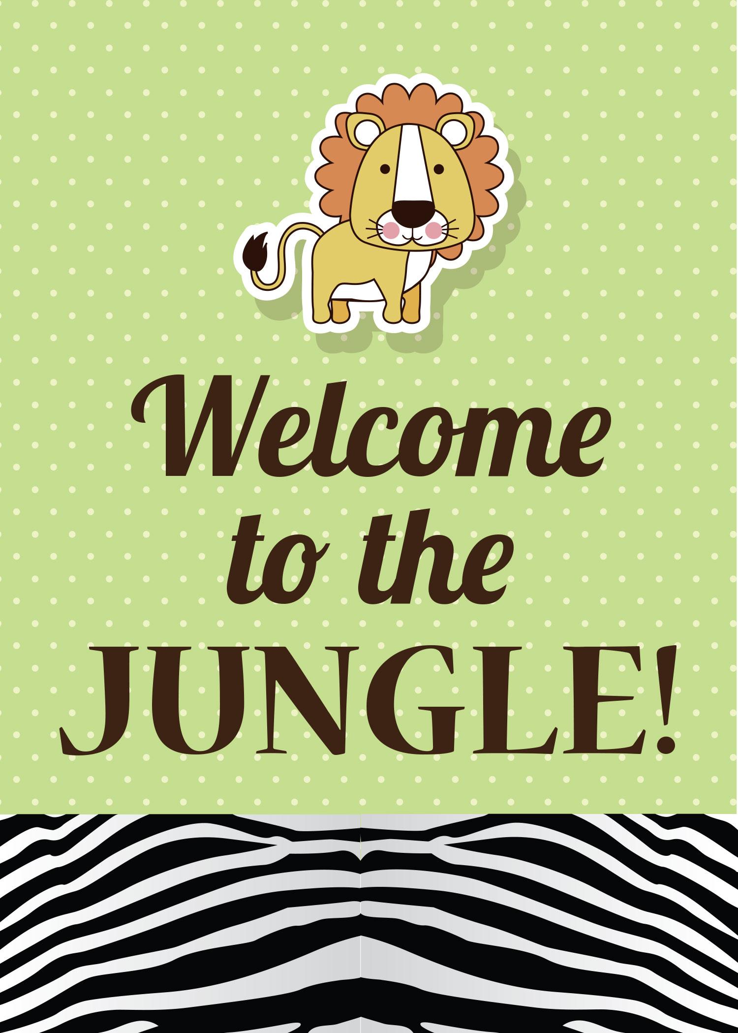 Friday Freebie Safari Theme Party Free Printables Rook Design Co