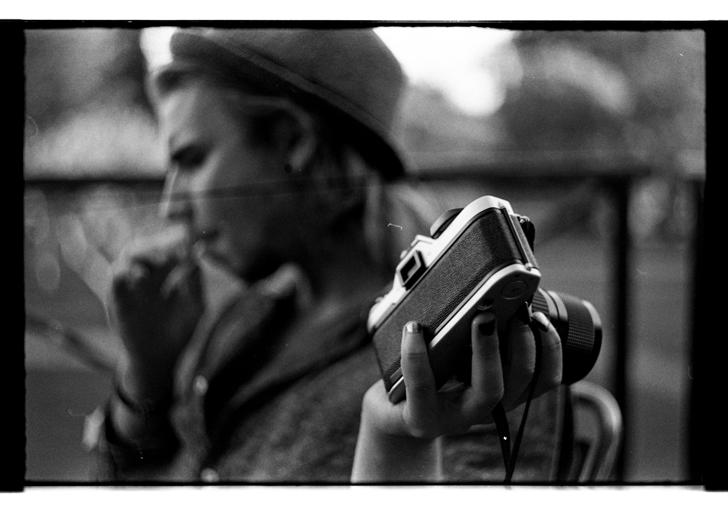 Markus and his camera.  Shot with a Canon EOS 1000FN and Helios 58mm f2 lens on classic tri-X