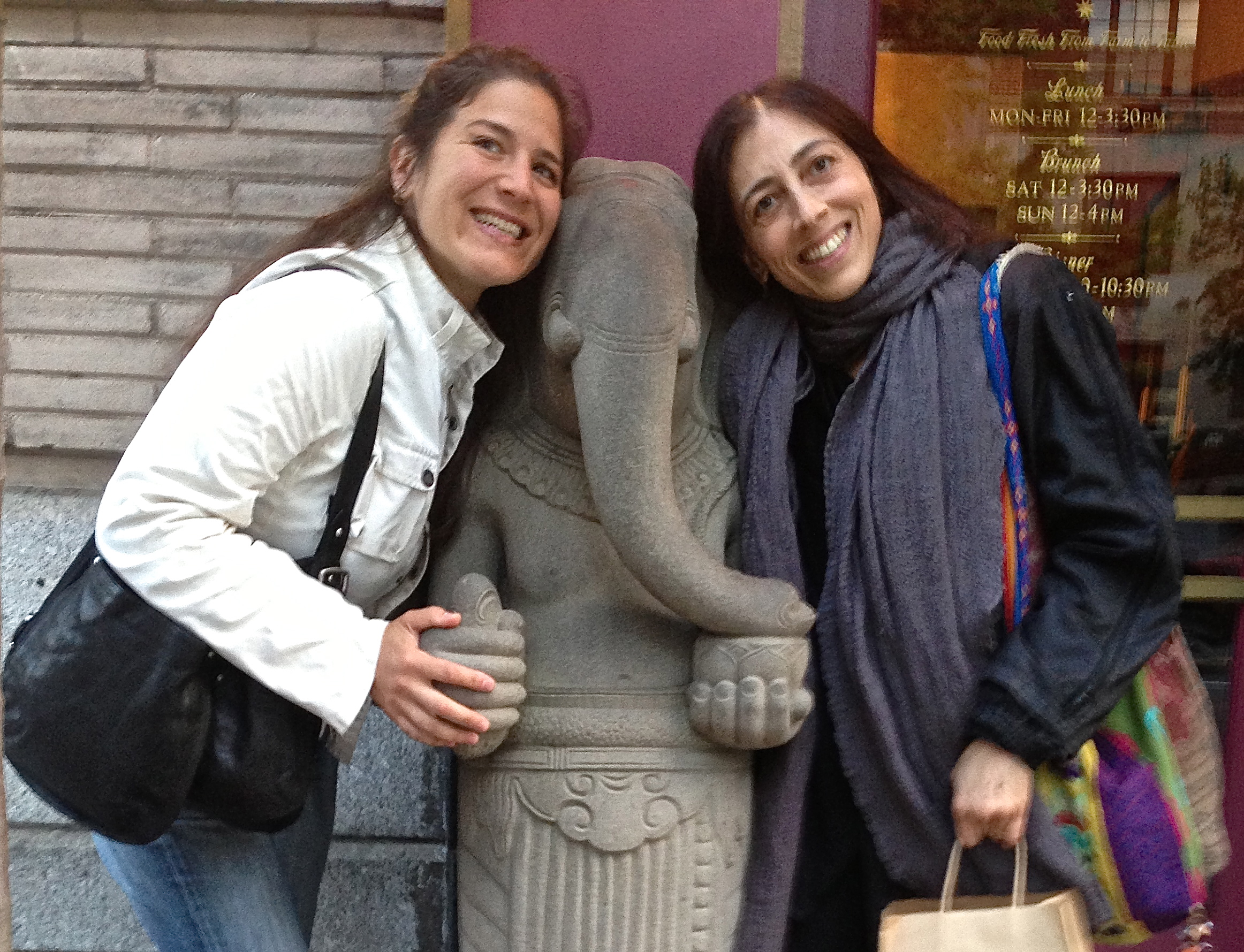 Sarah Willis and Dr. Eden Fromberg met as students at the Jivamukti Yoga center back around 15 years ago. They have been friends, peers, and Dr. Fromberg has attended to Sarah in the role of being her trusted physician for many years, and was instrumental in the birth of her son Elias, born January 7, 2012, when Sarah was 38. This fortunate alliance is giving way to symbiotic and fascinating work, demystifying the practice of Yoga and inviting fertility and the Sacred Feminine into our lives.  Sarah and Eden are thankful for this opportunity to serve and empower other women.
