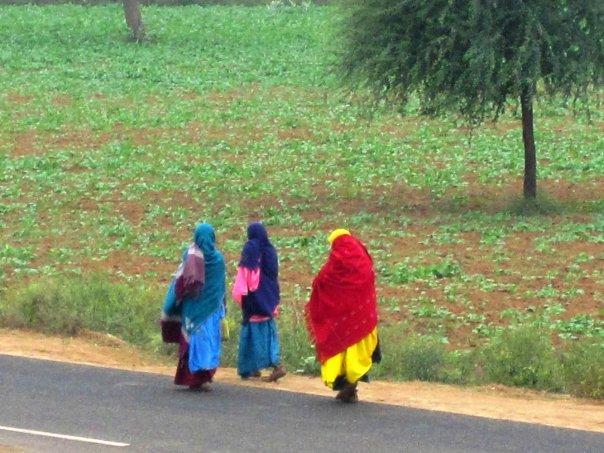Walking to Market - India