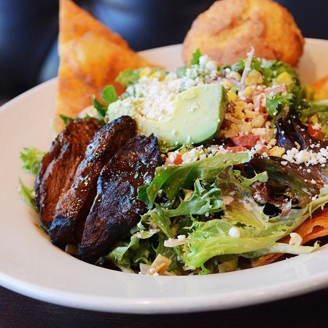 Steak salad. One of our favorites around here!  #eatyourgreens #saladpower #saladmaster #greens #steak #steaksalad #eatmpls #foodieapolis #uptownmn